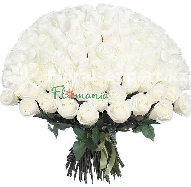 Огромный букет из белых роз